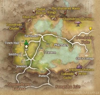 mapa Jadestone Village